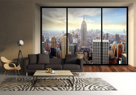 New York skyline penthouse giant wall murals